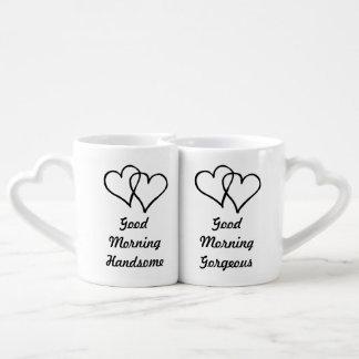 Son beau magnifique et sien bonjour coeur mug