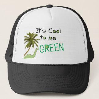 Son cool à être casquette vert