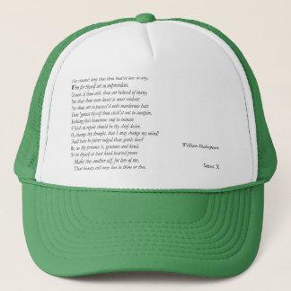 Sonnet # 10 par William Shakespeare Casquette