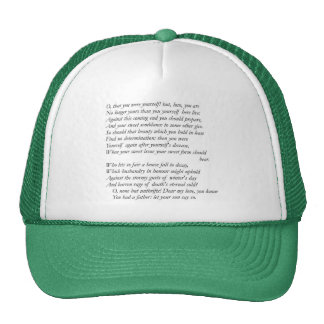 Sonnet # 13 par William Shakespeare Casquettes De Camionneur
