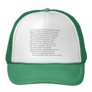 Sonnet # 35 par William Shakespeare Casquette De Camionneur