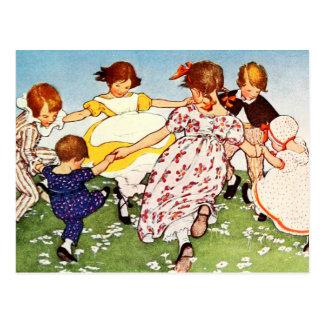 Sonnez les roses d'un o d'anneau cartes postales