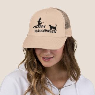 sorcière de Halloween et casquette heureux de