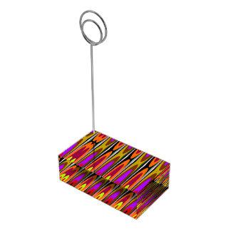 Soucoupes colorées porte-cartes de  table