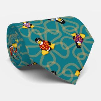 Soudainement cravate de pingouins (turquoise)
