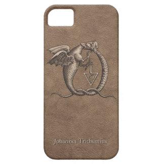 Soufre et en cuir de Mercury personnalisé Coque Barely There iPhone 5