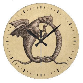 Soufre et Mercury Grande Horloge Ronde