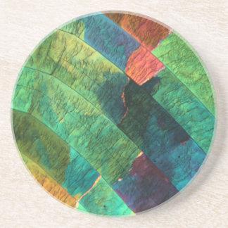 Soufre sous un microscope dessous de verre en grès