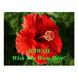 Souhait d'Hawaï vous étiez ici carte postale