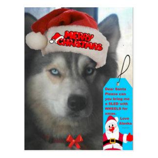Souhait enroué de Noël de carte postale à Père