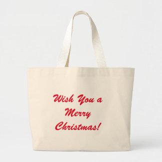 Souhaitez-vous un Joyeux Noël Grand Tote Bag