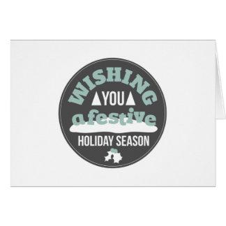Souhaitez-vous une saison de fête carte