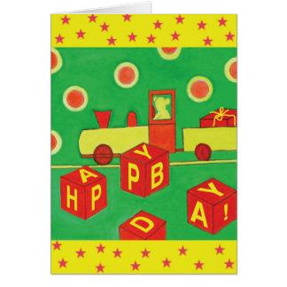 Souhaits d'anniversaire pour un petit enfant carte de vœux