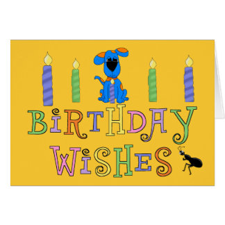Souhaits de joyeux anniversaire de garçons de carte de vœux