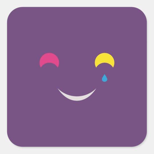 Sourire_carré_7,6 Sticker Carré