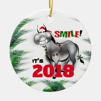 Sourire c'est ornement de sourire de l'âne 2018