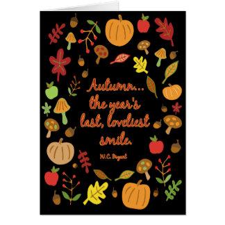 Sourire d'automne carte