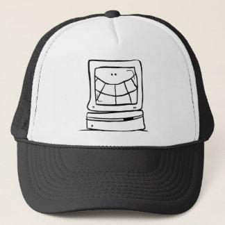 Sourire d'ordinateur casquette