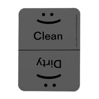 Sourire/froncement de sourcils - gris de Drk Magnets Rectangulaire