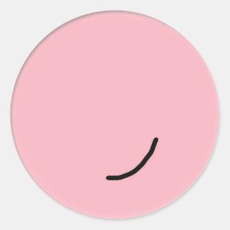 Sourire heureux de visage de Perfectless Sticker Rond
