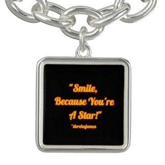 Sourire, puisque vous êtes un bracelet de charme