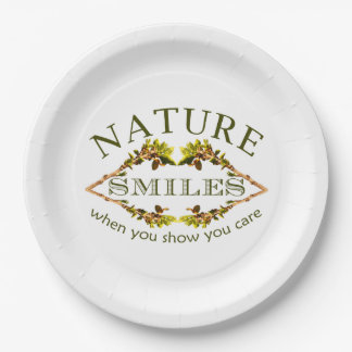 Sourires de nature assiettes en papier