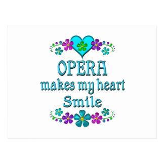 Sourires d'opéra carte postale