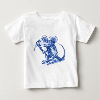 souris avec le bleu dur de planche t-shirt pour bébé