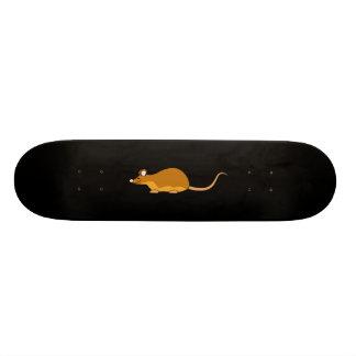 Souris rouge et bronzage d'animal familier skateboards personnalisés