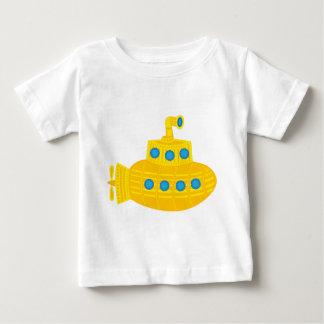 Sous-marin jaune t-shirt pour bébé