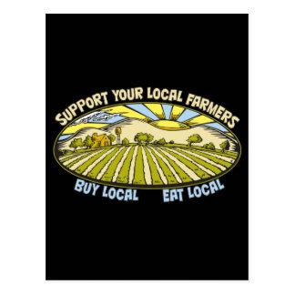 Soutenez vos agriculteurs locaux carte postale