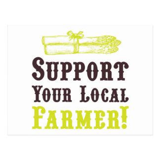 Soutenez votre agriculteur local ! Carte postale
