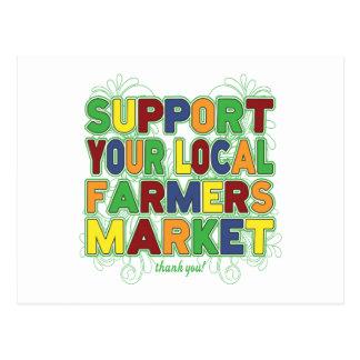 Soutenez votre marché local d'agriculteurs carte postale
