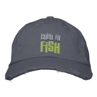 Soutenu aux poissons a brodé la casquette de