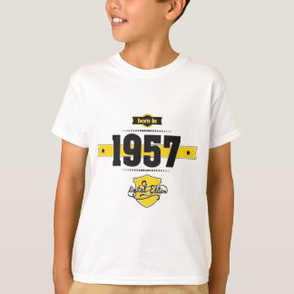 soutenu en 1957 (choco&yellow) t-shirt