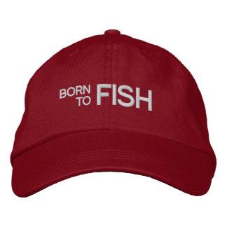 Soutenu pour pêcher le casquette brodé par rouge