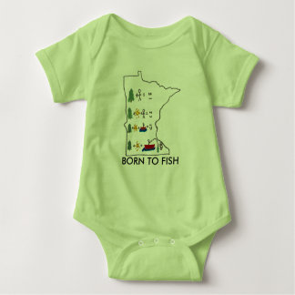 Soutenu pour pêcher le T-shirt de bébé