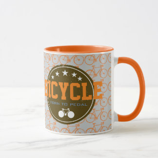 soutenu pour pédaler vélo-orienté mug