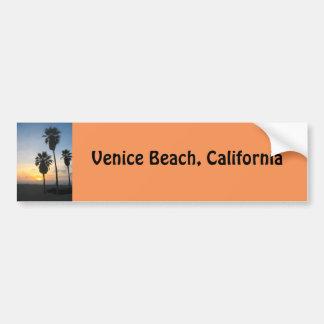 Souvenir de coucher du soleil de la Californie de Autocollant De Voiture