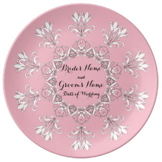 Souvenir de plat de mariage assiette en porcelaine