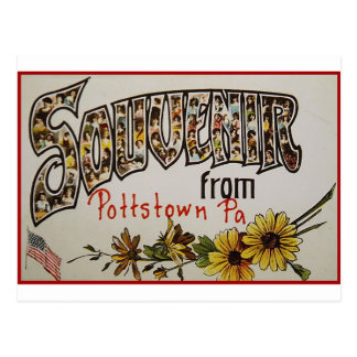 Souvenir de Pottstown Pennsylvanie Carte Postale