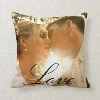 Souvenir fait sur commande de photo de mariage coussin décoratif