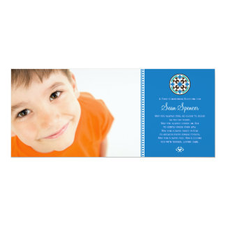 Souvenir saint de photo de communion en verre carton d'invitation  10,16 cm x 23,49 cm