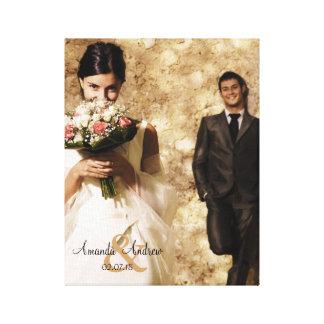 Souvenir vintage de photo de mariage d'esperluète toiles