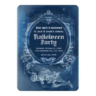 Souvenir vintage Mori d'invitation de Halloween de Carton D'invitation 12,7 Cm X 17,78 Cm