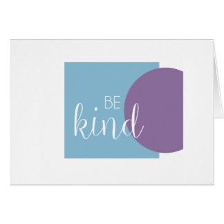 Soyez carte de voeux vierge inspirée aimable