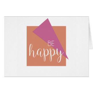 Soyez carte de voeux vierge inspirée heureuse