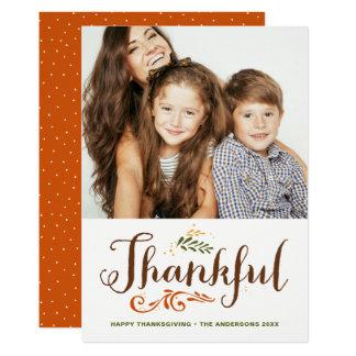 Soyez le bon thanksgiving lunatique reconnaissant carton d'invitation  12,7 cm x 17,78 cm