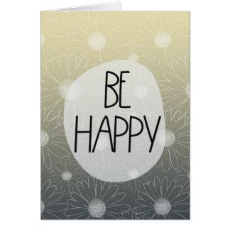 Soyez les marguerites heureuses carte de vœux