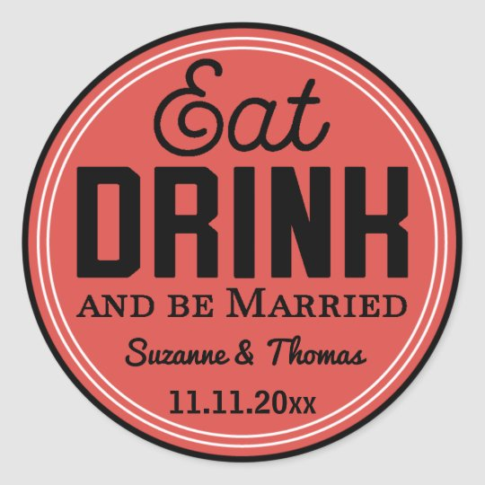 Soyez marié en épousant l'autocollant vintage de sticker rond